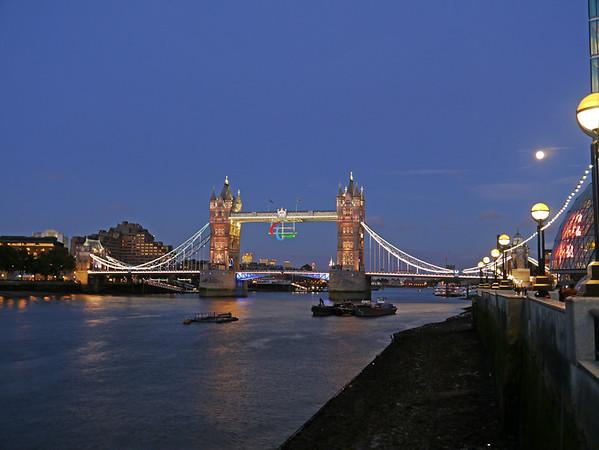 Tower Bridge with paralympic emblem