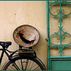 Hat and bike