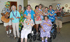 "Title: CCC Annual Luau 2013<br /> Caption: ""Everybody Hula…!""<br /> Photographer: Richard Vermette Activities Coordinator Hi-Desert Continuing Care Center,"