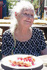 Title: Funnel Cakes at the Fair<br /> Caption: Elnora is obviously enjoying her funnel cake on a beautiful day at the Nevada County Fair.  <br /> Photographer: Dawn Tassone, Golden Empire Nursing & Rehab
