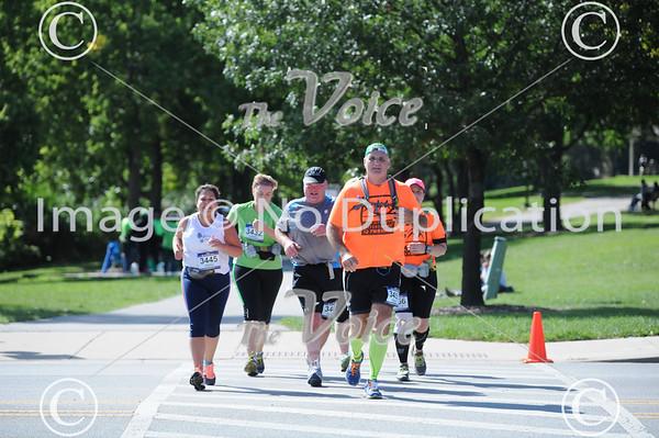 2013 Fox Valley Marathon along the Fox River through St. Charles, Geneva, Batavia, North Aurora, and Aurora in Kane County, Ill 9-22-13