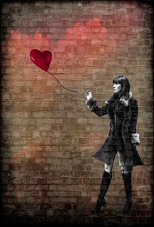 Banksy's ballon girl is all grown up