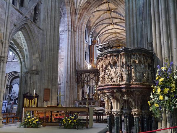 Dennis Poulter Pulpit Worcester Cathedral