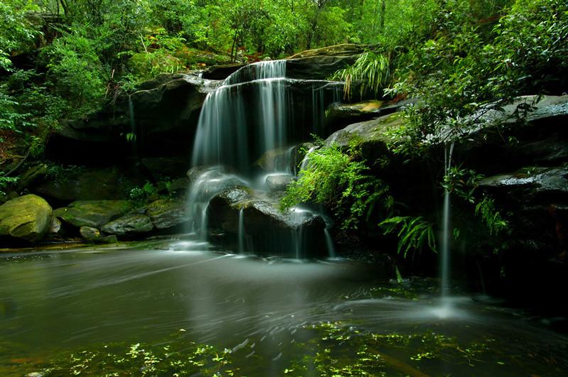 Suburban Waterfall
