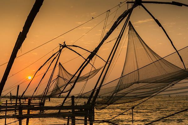 annie nash   sunset in fort kochi