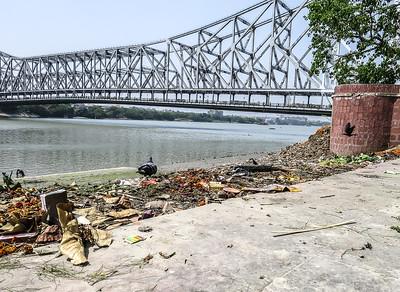 Jane L ~ Birds Eye View ~ Howrah Bridge, Calcutta