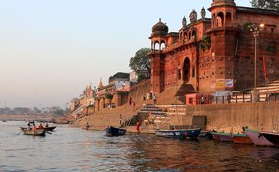 Jane L ~ Sunrise on the Ghats at Varanasi (1)