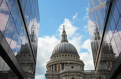 Reflections of St Paul's Cathedral