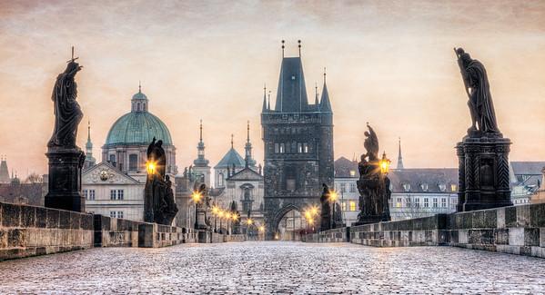 Across Charles Bridge, Prague