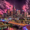 Melbourne City by Light