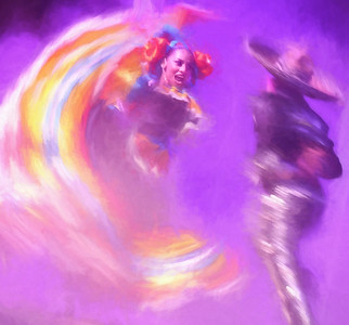 3-Intermediate-Altered_Reality-1-Jeri_Abel-Swirling_Dancers_Pastel_Photo_Painting