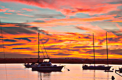 Morro Bay red and purple sunset