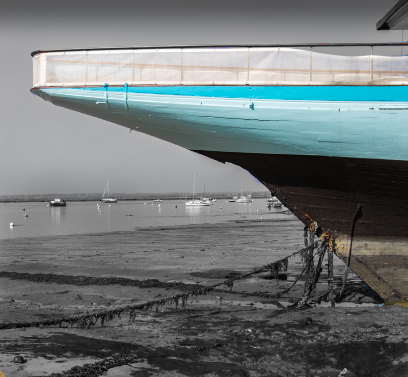 under the hull