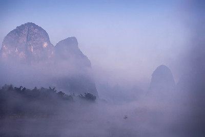 Mist over the Karst Mountains