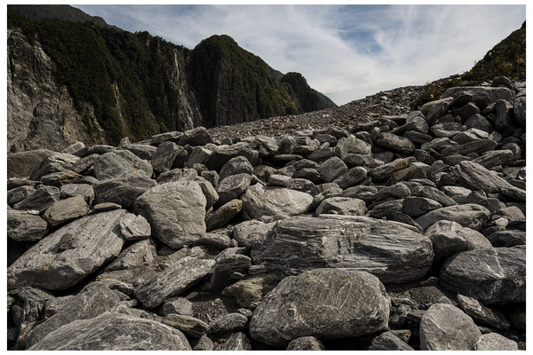 Fox Glacier scree slope