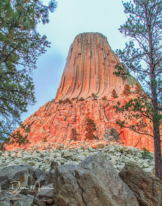 Alpenglow at Devils Tower, NE Wyoming, September, 2015