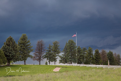 Heroes on the Hilltop, Military Cemetary adjacent to Little Bighorn National Monument, Montana, May 2016