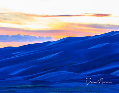 Sand Dunes Twilight, Great Sand Dunes National Park, Colorado, September 2015