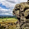 Wharfedale from Almscliffe Crag.