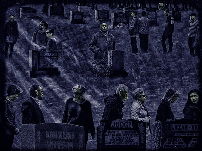 Cemetary Mourners