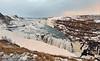 Gullfoss Falls Winter Scene