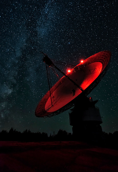 Starry Night at the Algonquin Radio Observatory