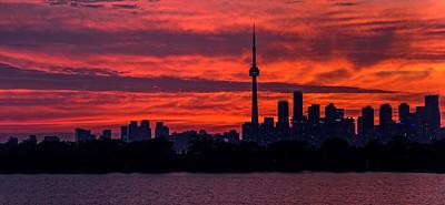 BACK-A-HM-Bill Matthews-Toronto sunset