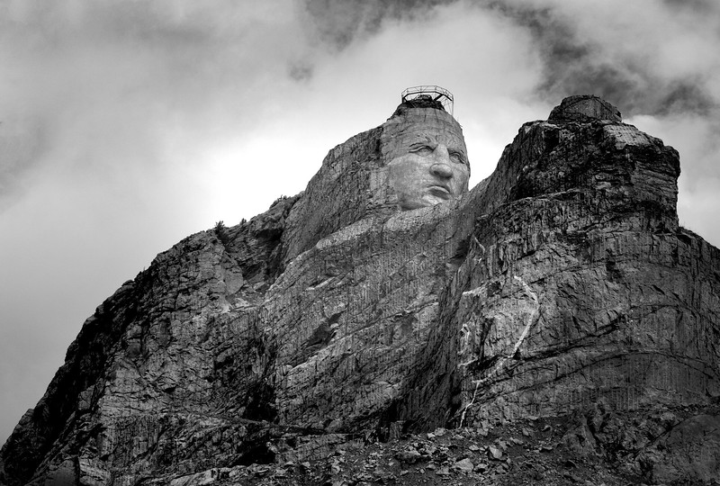 B&W-A-Jim Davis-Crazy Horse