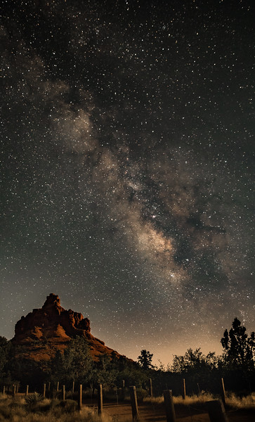 OPEN-A-HM-John German-Milky Way over Bell Rock