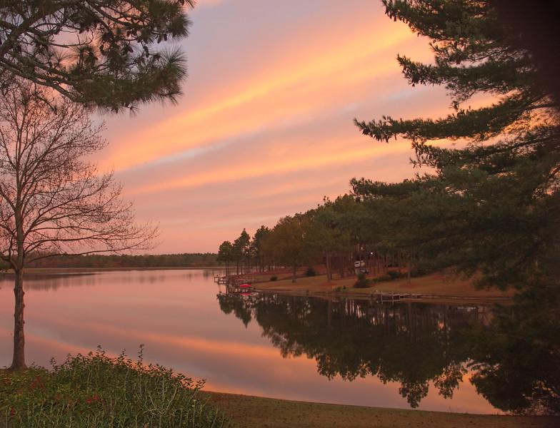 OPEN-B-John Reckless-Sunrise over the Lake