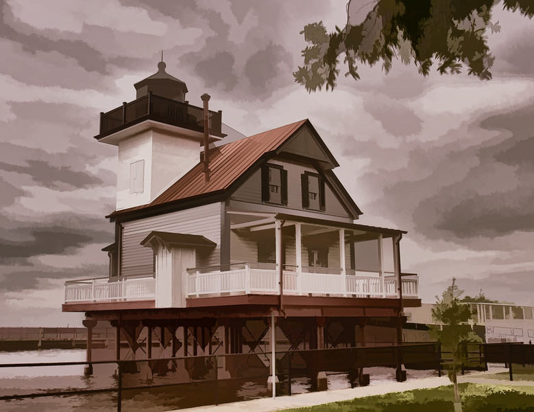 OPEN-C-Bill Bower-Roanoke River LIghthouse