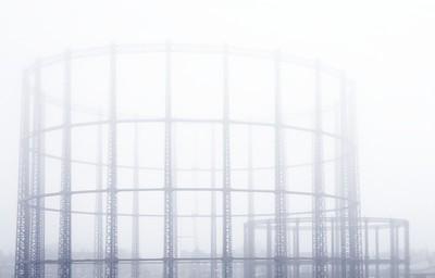 Foggy Gasometer