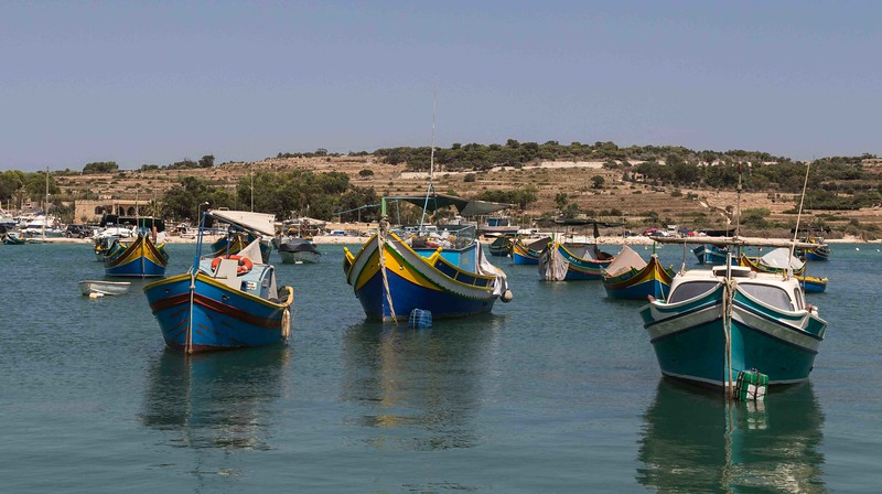 Boats at Anchor Marsaxlokk