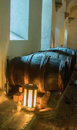 The lighted barrels