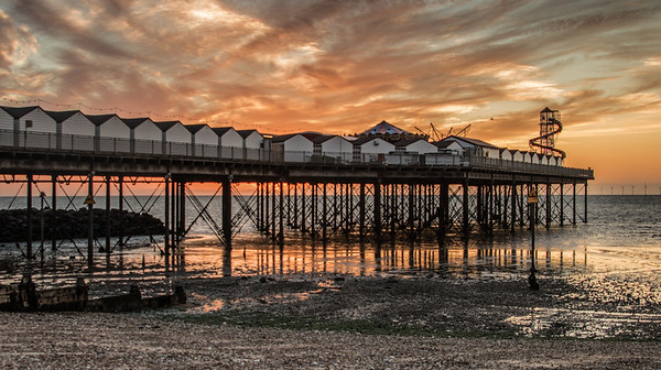 sunset at hern bay pier