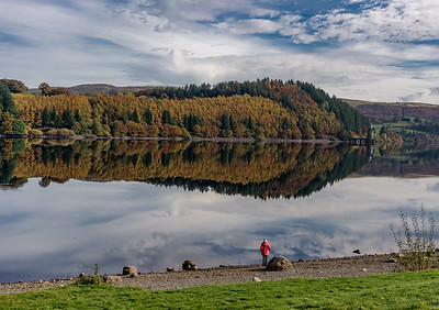 Figure by Lake Vyrnwy