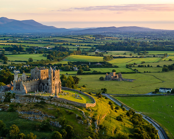4-Advanced-Assigned_-_50mm_Focal_Length-DNP-Drew_Armstrong-The_Rock_of_Cashel_Aerial_Sunset