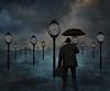 A Time Traveler caught in a rain delay