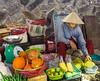 Cambodian market trader