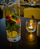 Water jug in restaurant
