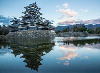 Matsumoto Castle at the end of the day