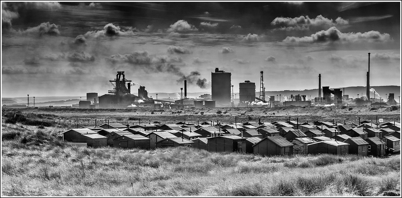 Fishermens Huts and Steelworks