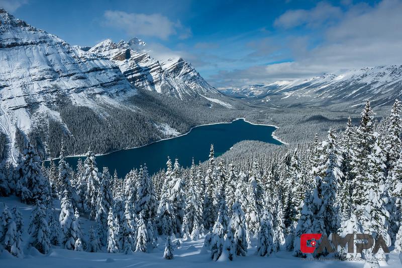 《雪中蓝宝石-佩托湖》  摄影:潘凌雲