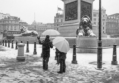 Snowy Day in London Town