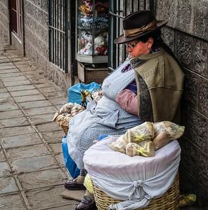 Peruvian Street seller