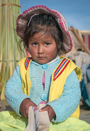 Lake Titicaca girl