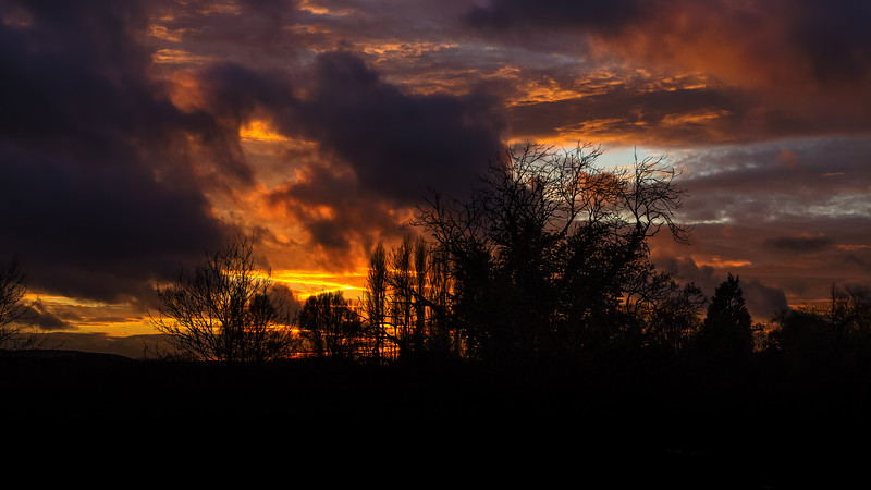 Fire in the Sky - Sunset at Wareham