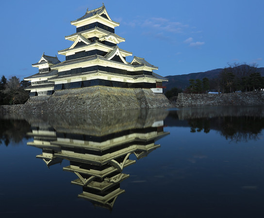Matsumoto Castle in the blue hour