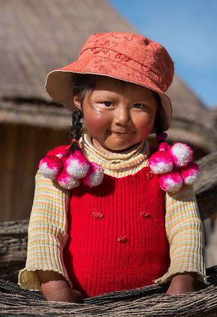 Lake Titicaca child