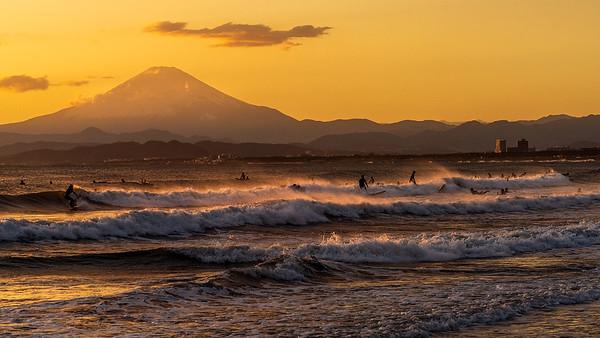 Mt.Fuji & Surfers